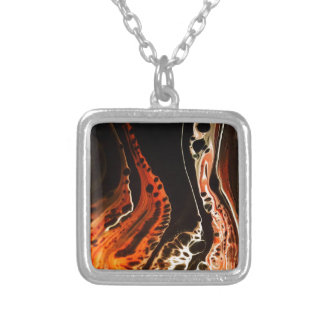 Coral Flame Silver Plated Necklace