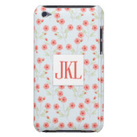 Coral Flower iPod Touch, Barely There Phone Case