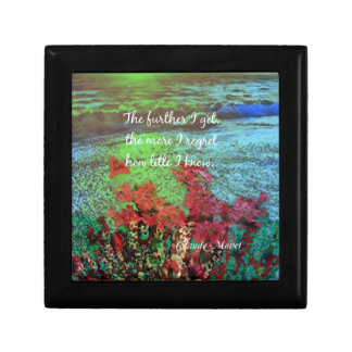 Coral ,Flowers and good message. Gift Box