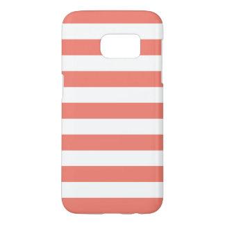 Coral Galaxy S7 Cases - Nautical Stripe