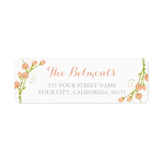 Coral Garden Roses - return address labels