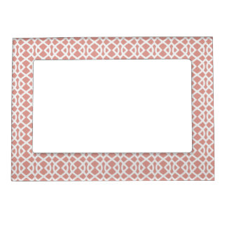 coral geometric pattern magnetic frame