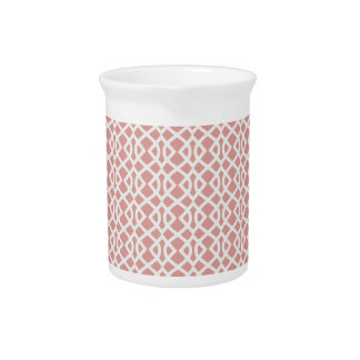 coral geometric pattern pitcher
