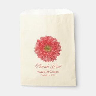 Coral Gerber Daisy Candy Buffet Wedding Favor Favour Bag