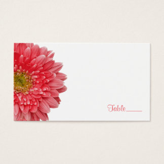 Coral Gerbera Gerber Daisy Wedding Place Card