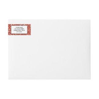 Coral Glitter Printed Wraparound Return Address Label