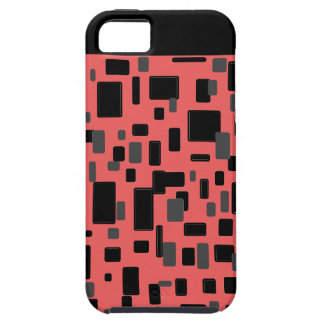 Coral gray black geometric pattern iPhone 5 cover