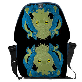 Coral Guardian Octopus inky depths Courier Bags