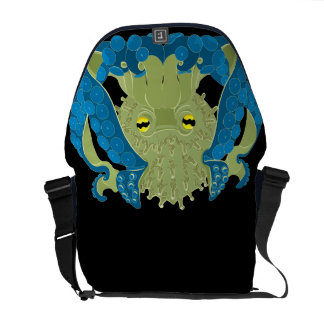 Coral Guardian Octopus inky depths Messenger Bags