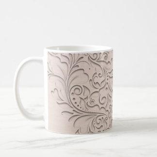 Coral HeartyChic Basic White Mug