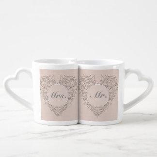 Coral HeartyChic Coffee Mug Set