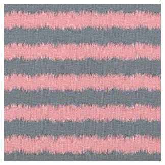 Coral Ikat chevron pattern fabric textile print
