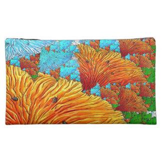 Coral Illustration Makeup Bags