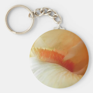Coral Iris Beard And Petals Basic Round Button Key Ring