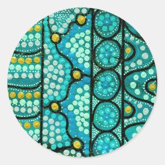 Coral Journey Round Sticker