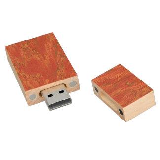 Coral Lava Wood USB 2.0 Flash Drive