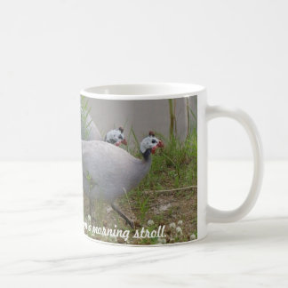 Coral & Lavender Guineas on a morning... Coffee Mug