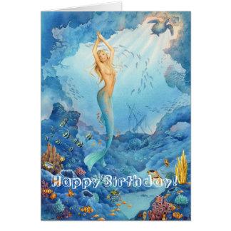 'Coral Mermaid' Birthday Card