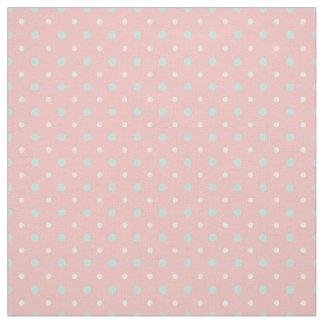 Coral Mint Green  Polka Dot  Pattern Fabric
