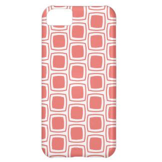 Coral Modern Geometric Pattern iPhone iPhone 5C Case