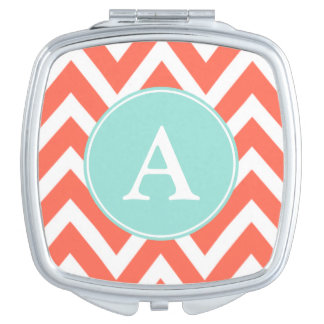 Coral Monogram Compact Compact Mirrors