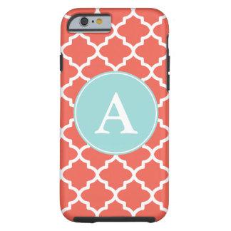 Coral Monogram iPhone 6 case