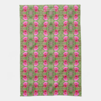 Coral New England Aster kitchen towel