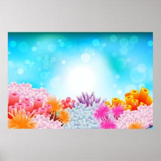 Coral Ocean Poster