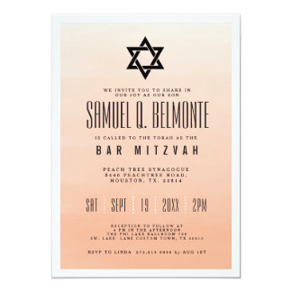 Coral Ombre | Bar Mitzvah Card