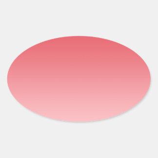 Coral Ombre Oval Sticker