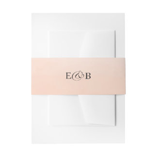 Coral Ombre | Wedding Invitation Belly Band