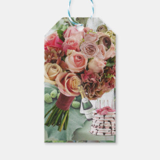 Coral on Misty Green Gift Tags