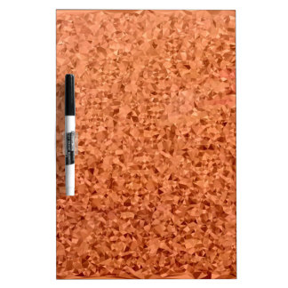 Coral Orange Abstract Low Polygon Background Dry Erase Board