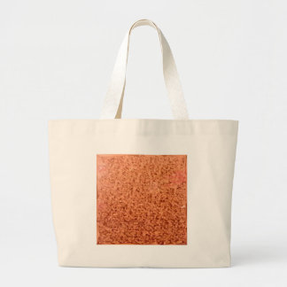 Coral Orange Abstract Low Polygon Background Large Tote Bag