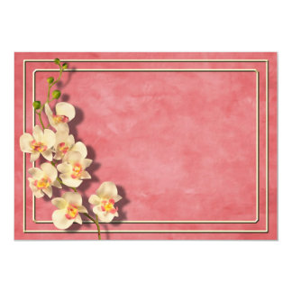 Coral Orchids I Card