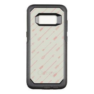 Coral Outlined Arrows Pattern OtterBox Commuter Samsung Galaxy S8 Case