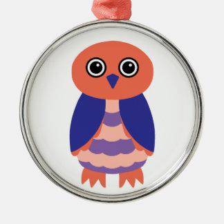 Coral Owl Ornaments