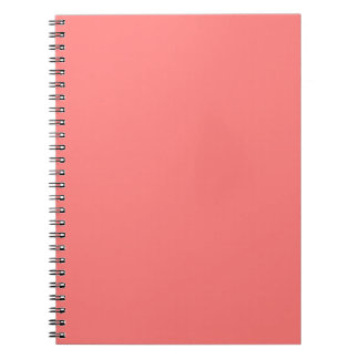 Coral Peach Fashion Color Trend 2014 Customized Spiral Notebooks