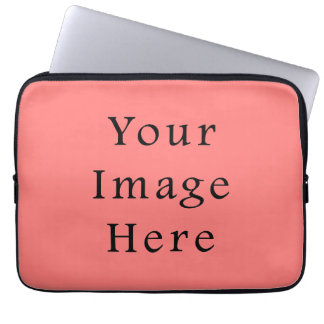 Coral Peach Pink Color Trend Blank Template Computer Sleeve