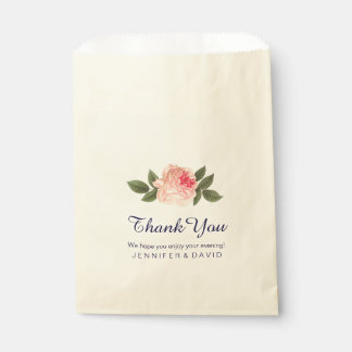 Coral Peonie Wedding Favor Bags (50)