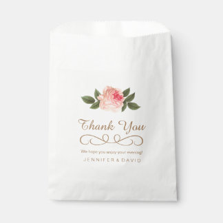 Coral Peonie Wedding Favor Bags (50) Favour Bags