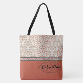 Coral Pink Best Bridesmaid's Gift Tote Bag