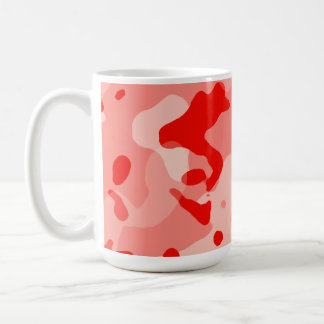 Coral Pink Camo; Camouflage Mugs