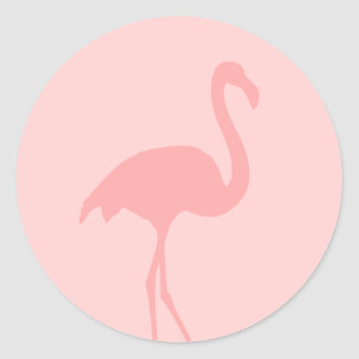 Coral pink flamingo bird stickers
