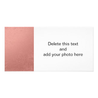 Coral Pink Foil Printed Photo Card Template
