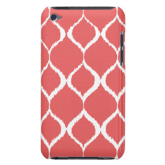 Coral Pink Geometric Ikat Tribal Print Pattern Barely There iPod Case