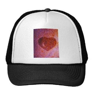 coral pink heart trucker hats