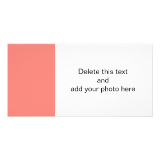 Coral Pink High End Colored Custom Photo Card