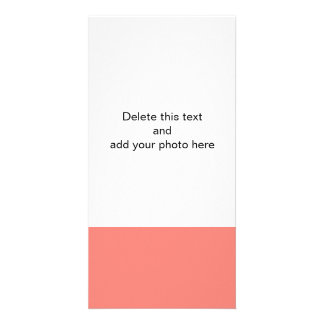 Coral Pink High End Colored Photo Greeting Card