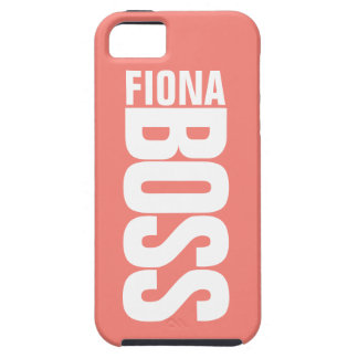 Coral Pink Managers Personalised Name iPhone5 Case